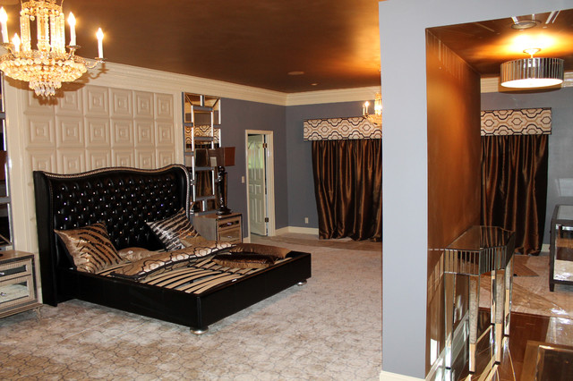 Lake Fayetteville Home contemporary-bedroom