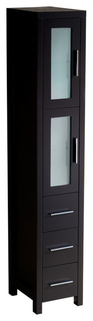 Fresca Torino Espresso Tall Bathroom Linen Side Cabinet, Espresso - Contemporary - Bathroom ...