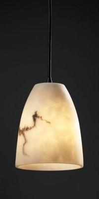 Justice Design Group LumenAria FAL-8815-18-DBRZ Mini 1-Light Pendant - Dark Bron modern-ceiling-lighting