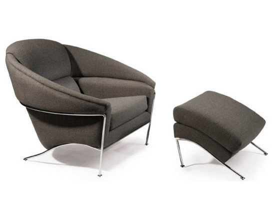 Thayer Coggin - Boldido Lounge Chair and Ottoman by Milo Baughman (Womb Chair) for Thayer Coggin - Thayer Coggin Inc.