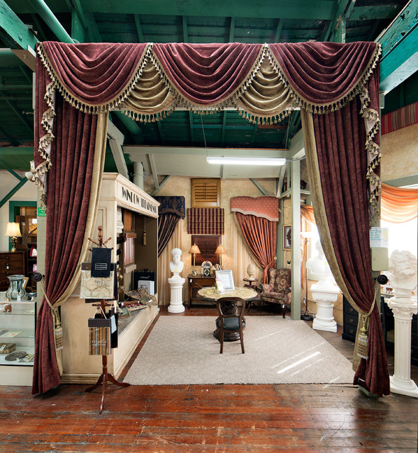 Interior Design Service at King Richards Antique Center traditional-curtains
