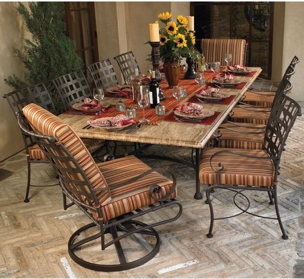 Wrought Iron Outdoor Dining Table and Chairs - - outdoor tables ...