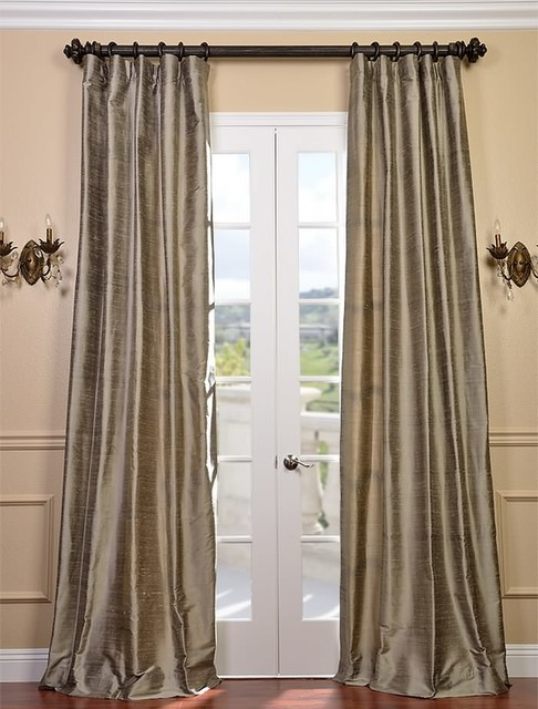 cashmere textured dupioni silk curtain traditional