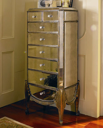 Mirrored Jewelry Armoire - Traditional - Jewelry Armoires ...