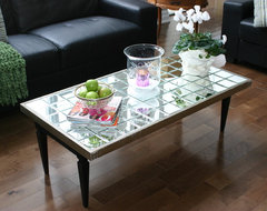 DIY Mirrored Coffee Table eclectic