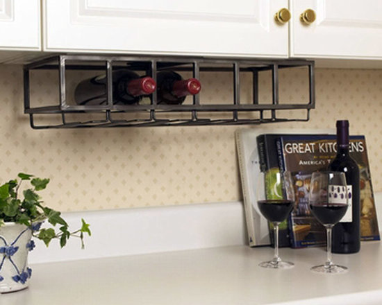 6 Bottle Under Cabinet Wine Rack - Keep your favorite vintage within easy reach with this 6-bottle wine rack. Its under-the-cabinet style mounting provides simple wine storage for kitchens and apartments short on space. Perfect for a contemporary style kitchen, dining or bar area.