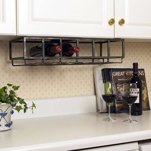 Bottle Under Cabinet Wine Rack Contemporary Wine Racks Atlanta