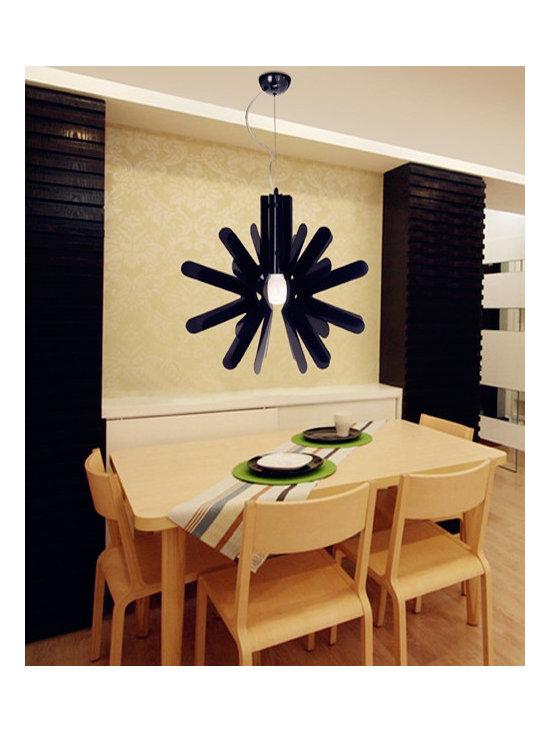 Brief Flower Shape Iron Modern Lighting Pendant Black - SOLD OUT~