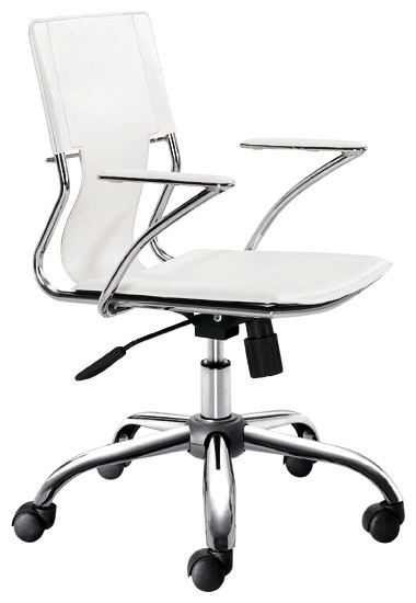Trafico White Office Chair contemporary-office-chairs