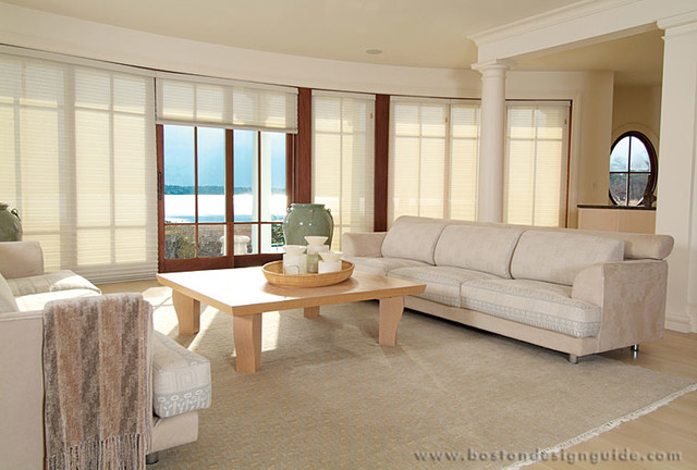 Comfort Screen Accordion Pleated Shades by Back Bay Shutter traditional-windows