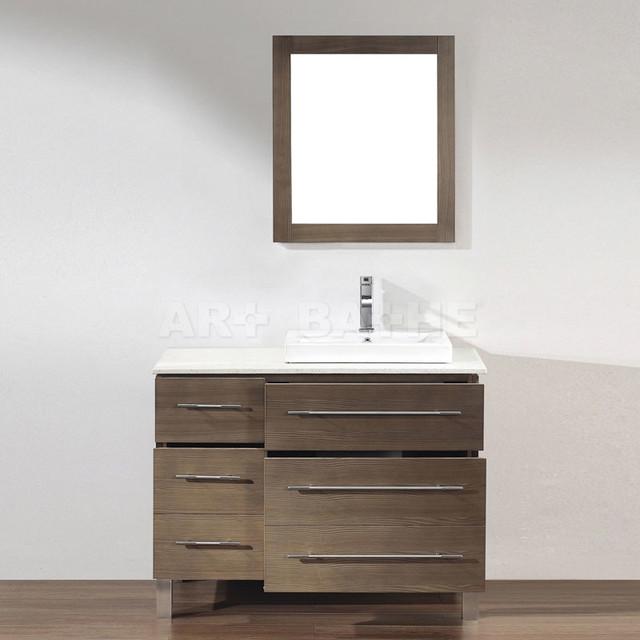 Gray Oak Bathroom Vanities contemporary
