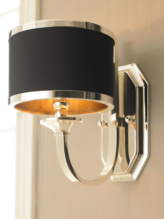 Lighting - Sleek silver and black make this quite the distinctive fixture.