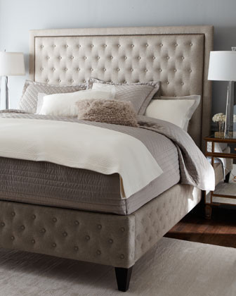Juliet King Tufted Bed Traditional Beds By Horchow