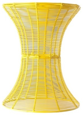 Yellow Indoor/Outdoor Round Sid modern side tables and accent tables