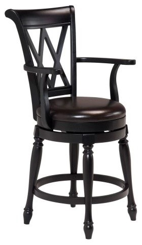 Monarch Black Leather Counter Height Stool traditional-bar-stools-and-counter-stools