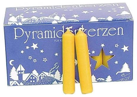 Set of 50 Christmas Candles - White, Large - Christmas Decorations traditional-holiday-decorations