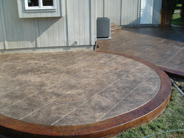 decorative concrete patio ideas patio