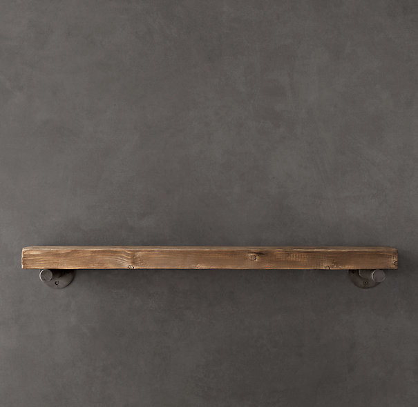 Reclaimed Wood Wall Shelf Industrial Display And Wall Shelves