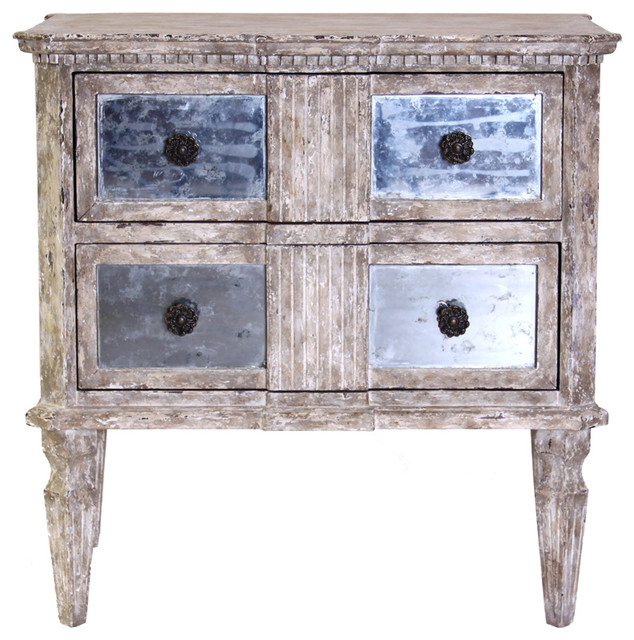 Ribbed Chest with Antiqued Mirror farmhouse-dressers