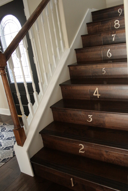 our entryway staircase traditional-staircase