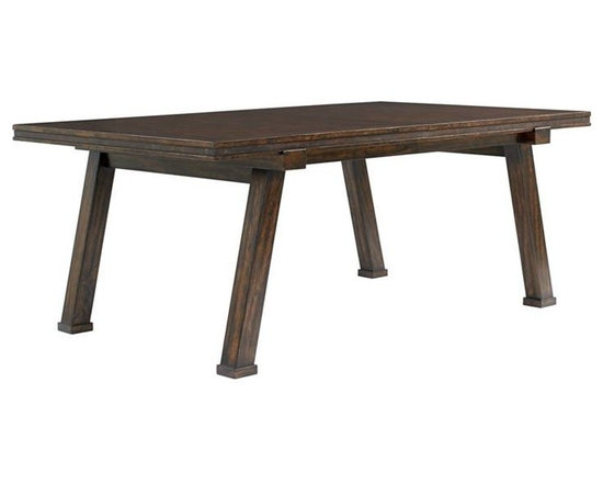 Stanley Furniture - Rectangular Dining Table - The metal banding on the Rectangular Dining Table is a subtle, industrial-inspired accent.