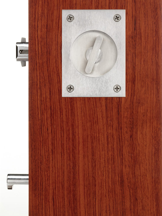 Pocket doors locks and flush pulls - Pocket door privacy lock and edge pull by Accurate Lock and Hardware Co., LLC