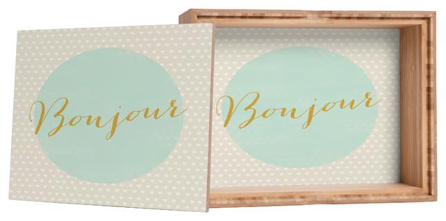 Allyson Johnson French Hello Storage Box contemporary-storage-bins-and-boxes