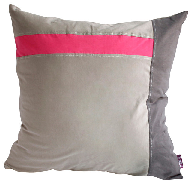 Gray Demon Knitted Fabric Patch Work Pillow Floor Cushion 19.7 by 19.7 inches eclectic-decorative-pillows