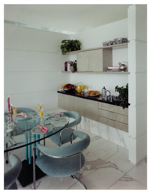 Kirchner Lake House modern-dining-room