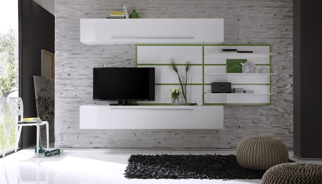 Modern Wall Unit TV Media Entertainment Center Jazz Composition 2 ...