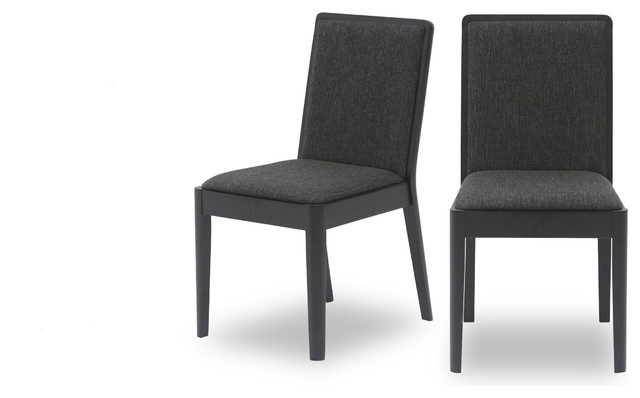 Natasha fabric upholstered dining chair for Modern dining chairs vancouver