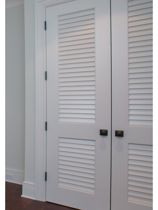 """Louver/Louver Doors - Make a louver door look upscale with over 2"""" wide louver blades.   Supa Doors are built to order and can be customized freely.   Made from 86% recycled wood content, the doors are environmentally friendly and are warrantied for life."""
