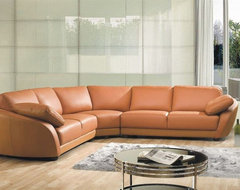 Sophisticated Italian Top Grain Leather Sectional Sofa contemporary-sectional-sofas