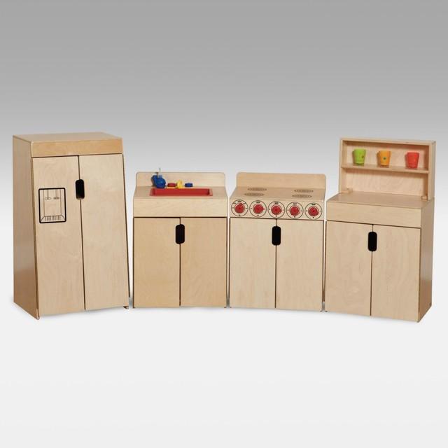 Wood Designs Tip Me Not 4 Piece Kitchen Set Modern