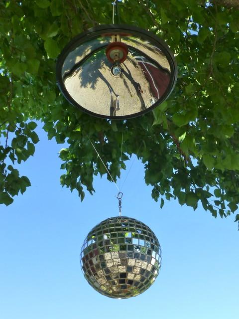 Kinetic Disco Mirror Ball & parabolic reflector pendant light - Modern - Pendant Lighting - san ...