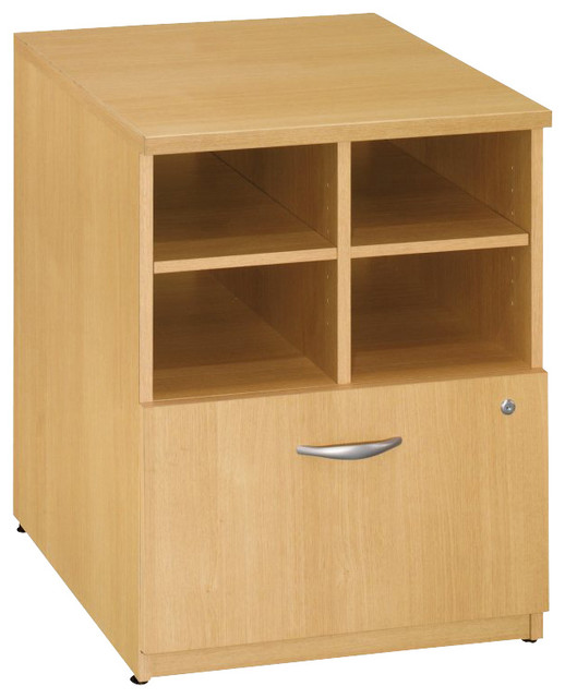 "Bush Series C 24""W Storage Unit in Light Oak Finish transitional-storage-units-and-cabinets"