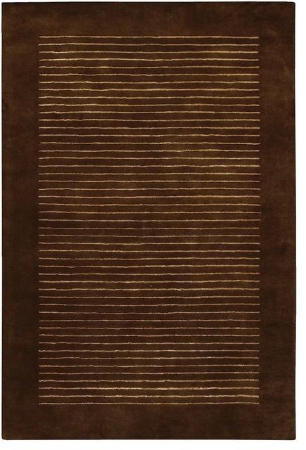 "Contemporary Antara Round 7'9"" Round Brown-Yellow Area Rug contemporary-area-rugs"