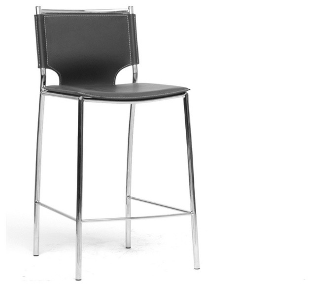 Baxton Studio Montclare Black Leather Modern Counter Stool  : modern bar stools and counter stools from www.houzz.com size 631 x 582 jpeg 24kB