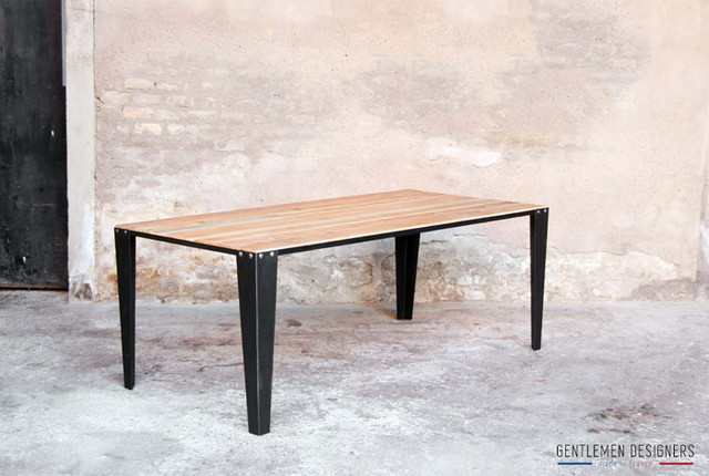 Table manger style industriel cr ation sur mesure industriel table - Table a manger sur mesure ...