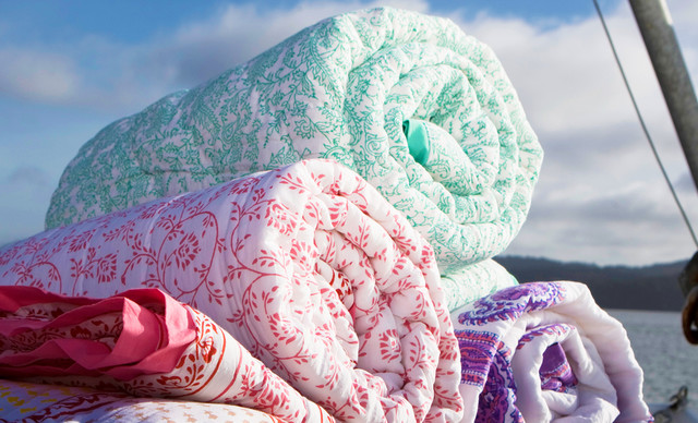 Indian Bedspreads and Quilts tropical-bedroom-products