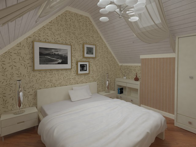 House in Potapovo (Moscow) contemporary-bedroom