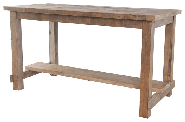 Bleaced Pine Rectangular Reclaimed Wood Pub Table Rustic  : rustic dining tables from www.houzz.com size 640 x 422 jpeg 40kB