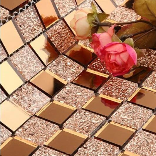 Mirror glass mosaic tile glass mosaic Mirror tiles diamond glass mosaic tile - Modern - Mosaic ...