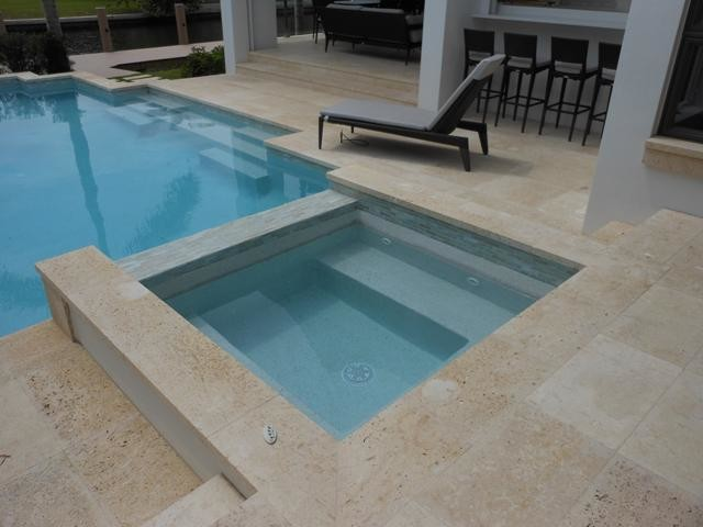 Marble Pool Decks : The best natural stone materials to use on a pool deck