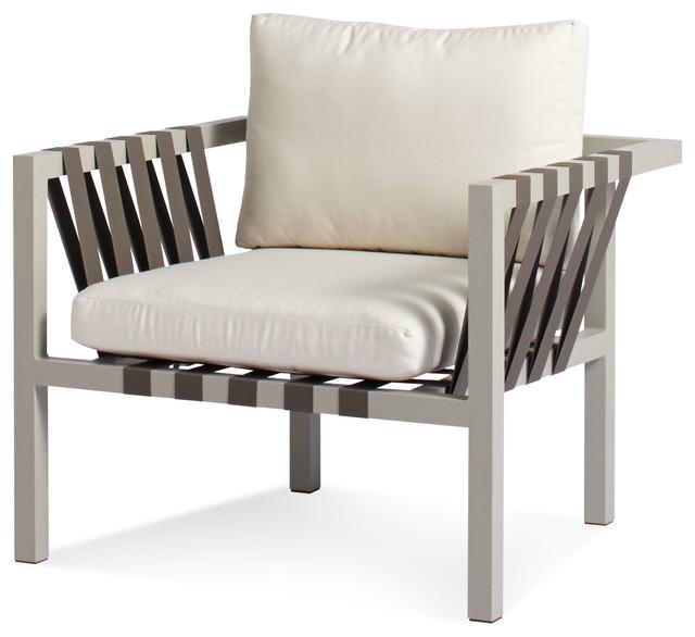 Blu Dot Jibe Outdoor Lounge Chair Grey Sunbrella Canvas Modern Patio F