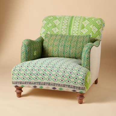 One-of-a-Kind Benazir Sari Armchair eclectic armchairs