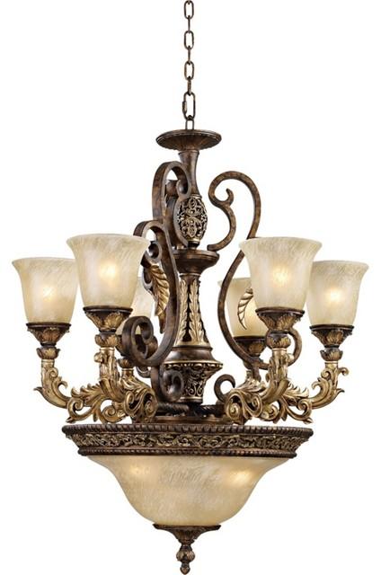 Trump Home Regency Collection 9-Light Pendant Chandelier traditional-chandeliers
