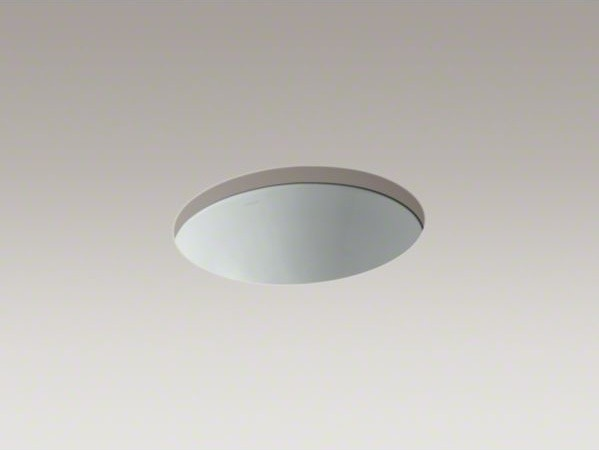 "KOHLER Caxton(R) 17"" x 14"" under-mount bathroom sink with center drain and clamp contemporary-bathroom-sinks"