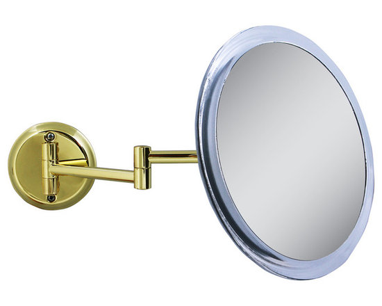 Zadro - Zadro 5X Wall Mount Mirror In Brass/Acrylic-Z9Wg - A vanity mirror is an absolute must have for any woman. Looking your best is easy when you have a magnified vanity mirror at your side. It makes doing your hair and make-up easier than ever before. The 5X Brass Wall Mirror features a premium quality, 5x magnification mirror that allows you to see up-close and in detail, allowing for easy make-up application. The dual-jointed arm extends up to 10.5 and can be moved and positioned however you want.