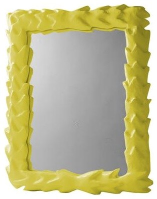 Stray Dog Designs Tropical Mirror in Chartreuse traditional-mirrors